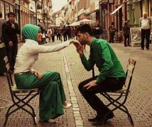 couples, muslims, and peace image