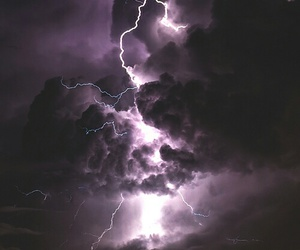 purple, lightning, and thunder image