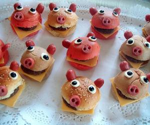food, pig, and burger image