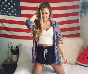 america, american flag, and bedroom image