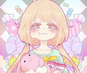 anime, kawaii, and candy image
