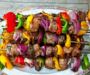 delicious, meat, and vegetables image