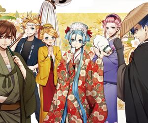 hatsune miku, kagamine len, and kagamine rin image