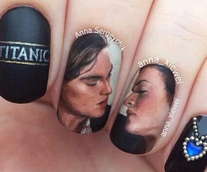 nails, nail art, and titanic image