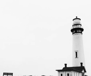 lighthouse and white image