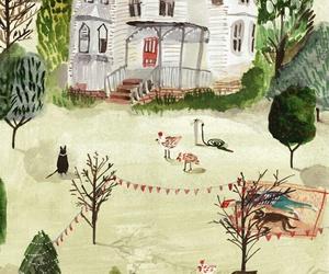 house, illustration, and art image