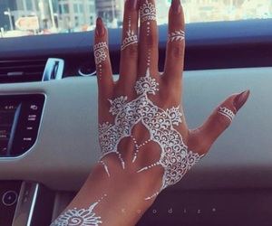 henna, nails, and white image