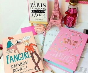 book, fangirl, and pink image