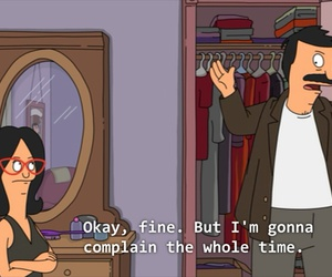funny, bobs burgers, and complain image