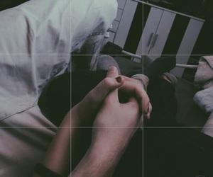 boyfriend, couple, and handinhand image