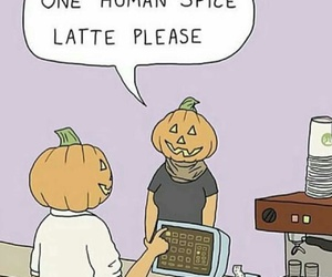 pumpkin, funny, and fall image