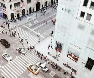 city, Louis Vuitton, and new york image