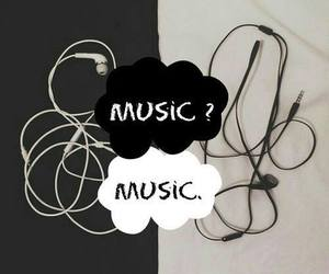 music, black, and white image