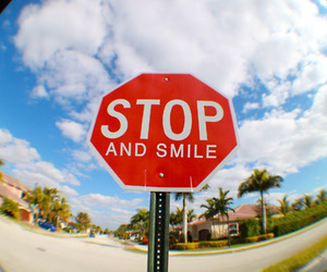 fisheye, lens, and smile image