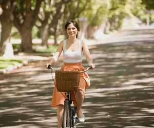 500 Days of Summer, zooey deschanel, and bicycle image