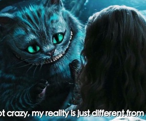 alice, alice in wonderland, and cat image