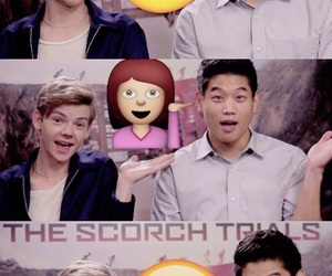 funny, thomas brodie sangster, and the scorch trials image