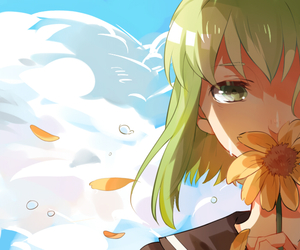 flower, sky, and vocaloid image