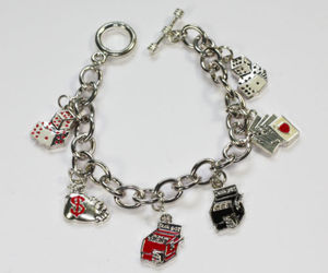gift ideas and lucky charm bracelet image