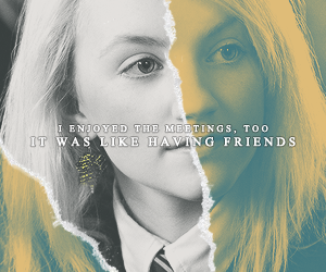 harry potter, luna, and quote image