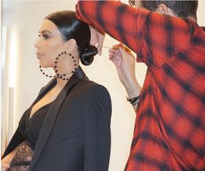 hair style, kim kardashian, and Givenchy image