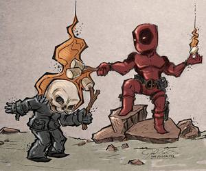 deadpool, funny, and ghost rider image