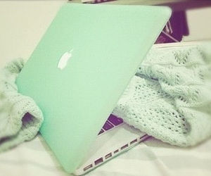 apple, green, and laptop image