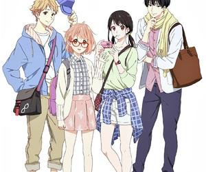 kyoukai no kanata, anime, and manga image