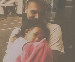 chris brown, family, and Father and Daughter image