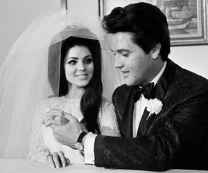 Elvis Presley, wedding, and love image