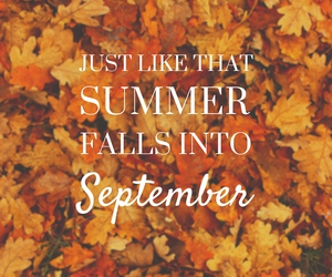 fall, autumn, and September image