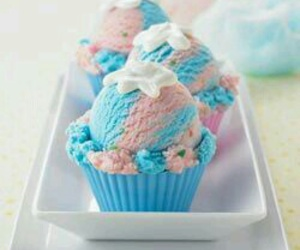 beauty, colors, and cupcake image