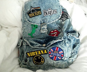 grunge, nirvana, and backpack image