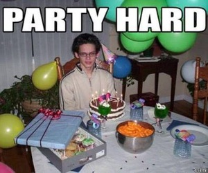 party, funny, and party hard image
