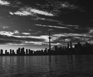 black and white, canada, and city image
