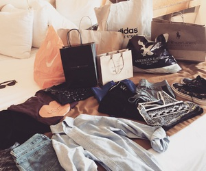 clothes, love, and shopping image