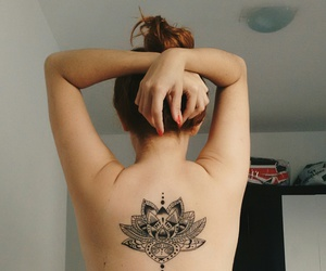 lotus, tatuagem, and tattoo image
