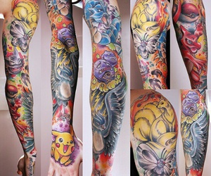 pikachu, pokemon, and Tattoos image