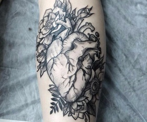 anatomical, leafs, and tattoo image