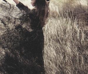 black dress, dark, and dress image