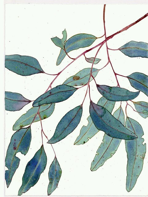 art, leaves, and green image