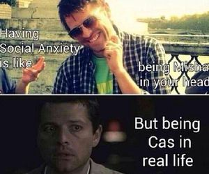supernatural, castiel, and social anxiety image