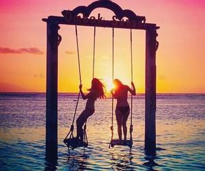 beach, best friends, and Dream image