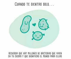 bacteria, frases, and solo image
