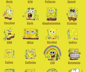drugs, spongebob, and funny image