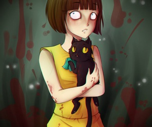 blood, horror, and fran bow image