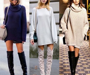 boots, fashion, and sweater image