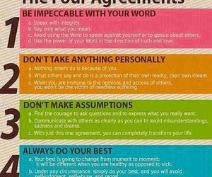 life, quote, and the four agreements image