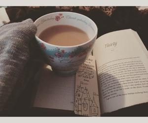 autumn, blankets, and books image