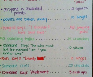 fitness, harry potter, and workout image